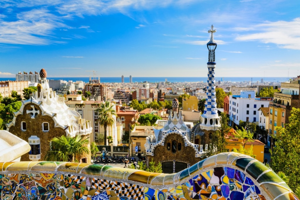 Barcelon Spain Park Guell